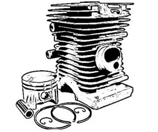Cilindra komplekts motorzāģim Husqvarna 235, 236, 240 (39mm)